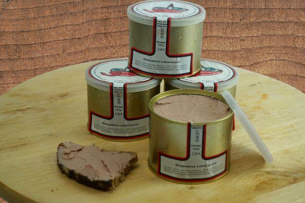 Delikatess Leberwurst fein (Dose)