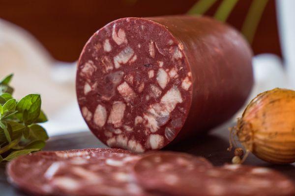 Presssack rot (Portionswurst)