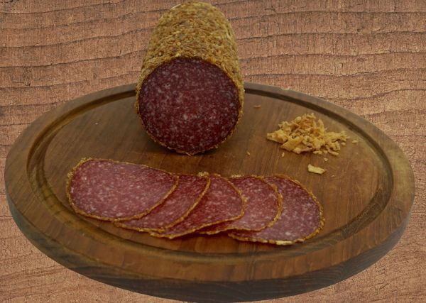 Salami mit Zwiebelrand