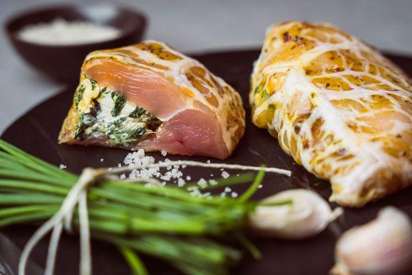 Hähnchenbrust gefüllt mit Spinat/Frischkäse