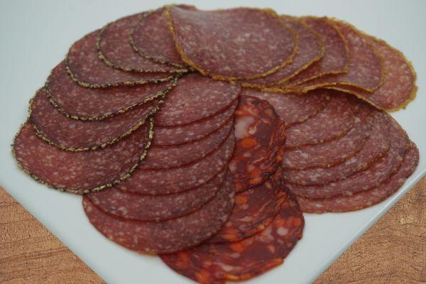 Salamiaufschnitt